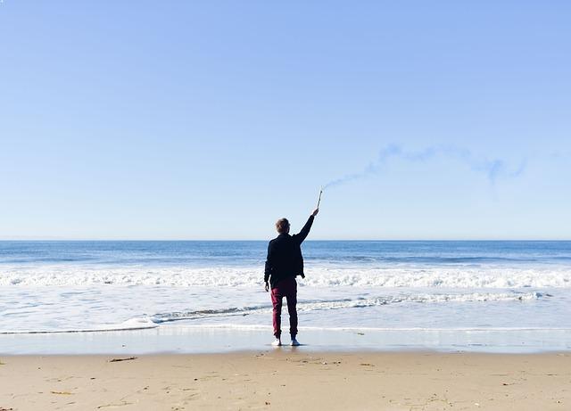 muž na břehu