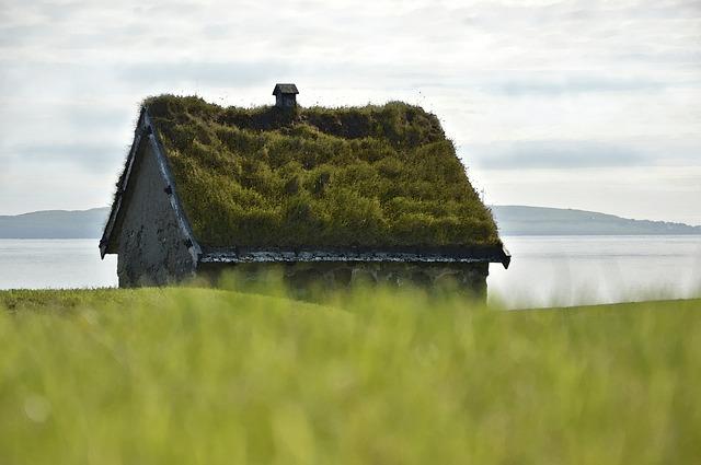 dům s travnatou střechou
