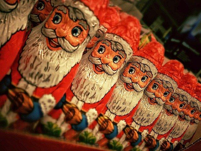 Čokoládové figurky Santa Claus